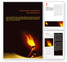 Religious/Spiritual: Olympic Flame Word Template #02389