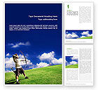 Sports: Archery Word Template #02411