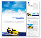Sports: Water Motorcycle Word Template #02421