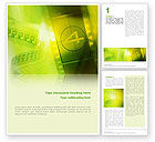 Art & Entertainment: Film Strip In Light Yellow Green Colors Word Template #02426