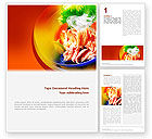 Food & Beverage: Exotic Food Restaurant Menu Word Template #02431