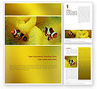 Nature & Environment: Tropical Fish Word Template #02466