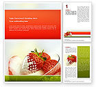 Food & Beverage: Strawberry Word Template #02470