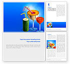 Food & Beverage: Vitamin Cocktail Word Template #02487