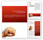 Business Concepts: Fist Of Fury Word Template #02497