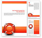 Business Concepts: Saving Buoy Word Template #02501