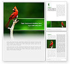 Agriculture and Animals: Cardinal Indiana State Bird Word Template #02503