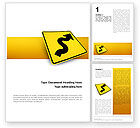Business Concepts: Zigzag Word Template #02504