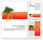 Agriculture and Animals: Carrot Word Template #02511