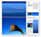 Agriculture and Animals: Lion Word Template #02519