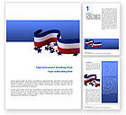 America: Federal Colors Word Template #02576