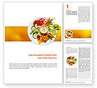 Food & Beverage: Vegetarian Food Word Template #02582
