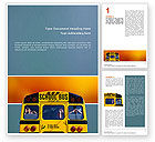 Education & Training: School Bus Aft Word Template #02587
