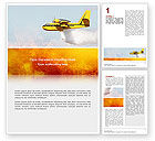 Nature & Environment: Fire In The Forest Word Template #02590