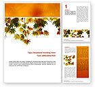 Nature & Environment: Plantilla de Word - humor de otoño #02596