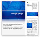 Medical: ECG in Blue Word Template #02617
