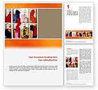 Education & Training: School Cubbyholes Word Template #02627