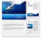 Agriculture and Animals: Shark Hanting Word Template #02634