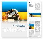 Sports: Gymnastics Word Template #02641