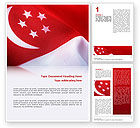 Flags/International: Flag of Singapore Word Template #02646