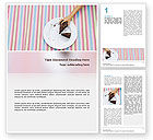 Food & Beverage: Piece of Cake Word Template #02656