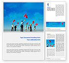 Business Concepts: Celebration Balloons Word Template #02657