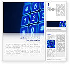 Telecommunication: Touchpad Word Template #02667