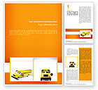 Cars/Transportation: School Bus Model Word Template #02672