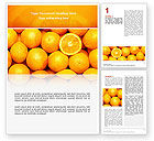 Food & Beverage: Modèle Word de des oranges #02688