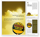 Nature & Environment: Petroleum Pipeline Word Template #02691