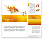 Nature & Environment: Goldfish Word Template #02710