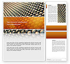 Abstract/Textures: Gray- Orange Grid Word Template #02723