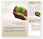 Global: World in Hands Word Template #02727