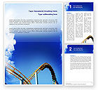 Art & Entertainment: Roller Coaster Word Template #02740