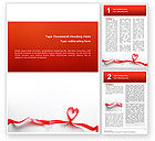 Holiday/Special Occasion: Heart Ribbon Word Template #02757