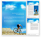 Sports: Mountain Cyclist Word Template #02760