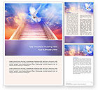 Religious/Spiritual: Holy Benediction Word Template #02764