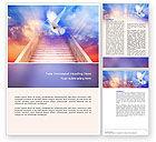 Religious/Spiritual: Holy Benediction Word Template #02764