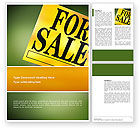 Careers/Industry: Real Estate Sale Word Template #02772