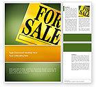 Careers/Industry: Immobilienverkauf Word Vorlage #02772