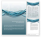 Telecommunication: Aqua Blue Wires Word Template #02781