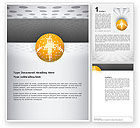 Art & Entertainment: Disco Ball Word Template #02785