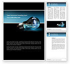 Business Concepts: Light Technology Word Template #02788