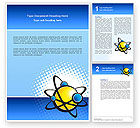 Education & Training: Atom Word Template #02803