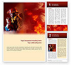 People: Fire Alarm Word Template #02804