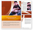 Education & Training: Friendship Word Template #02812