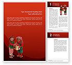 Education & Training: Weihnachtskinder Word Vorlage #02816