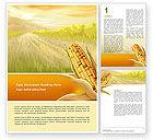 Agriculture and Animals: Modèle Word gratuit de thanksgiving au maïs #02821
