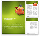 Financial/Accounting: Piggy-bank Word Template #02832