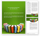 Education & Training: Books Word Template #02844